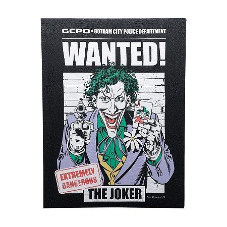 Quadro Tela Canvas DC Comics Joker Wanted Preto 30x40cm