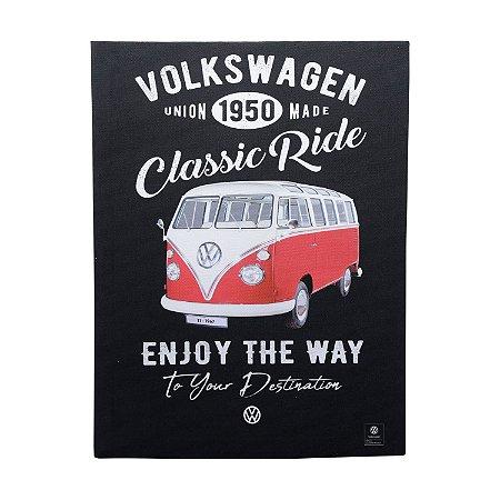 Quadro Tela Canvas Volkswagen Kombi Classic Ride Preto 30x40cm