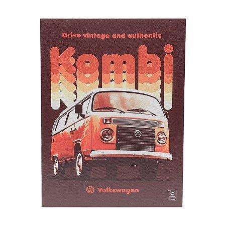 Quadro Tela Canvas Volkswagen Kombi Vintage Vermelho 30x40cm