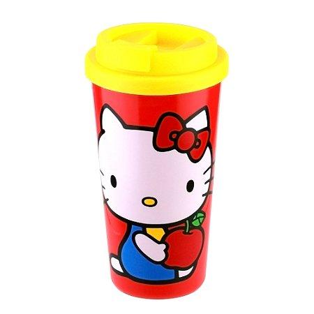Copo Plástico Hello Kitty Go Apple Vermelho 500ml