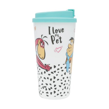 Copo Plástico Flintstones Fred Dino I Love my Pet 500ml