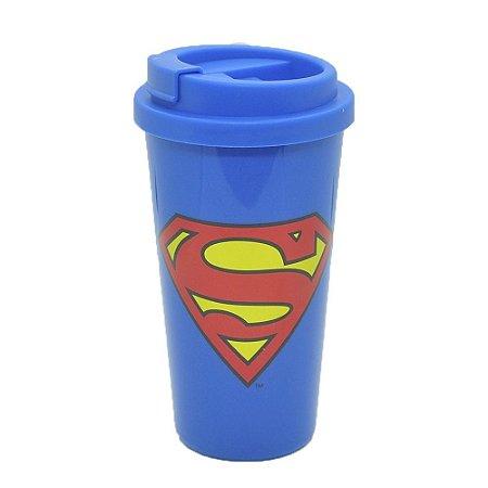 Copo Plástico DC Comics Superman Logo Azul 500ml