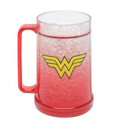 Caneco Chopp Gel DC Comics Wonder Woman Vermelha 450ml
