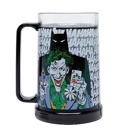Caneco Chopp Gel DC Comics Batman Coringa Preta 450ml