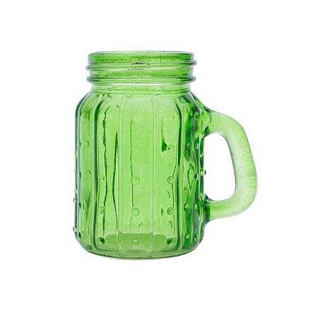 Mini Caneca Jarro de Vidro Cactos Verde 125ml