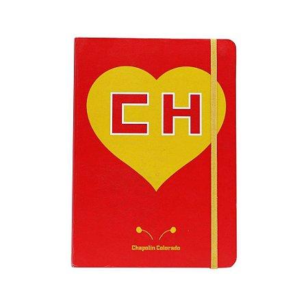 Caderneta Anotação Capa Dura Chapolin Colorado Vermelha A5