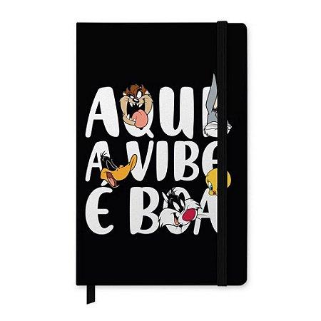 Caderneta Anotação Capa Dura Looney Tunes Character Preta A6