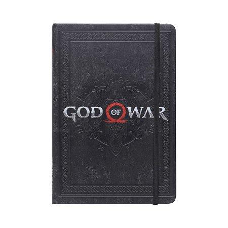 Caderneta Anotação Capa Dura Geek God Of War Preto A5