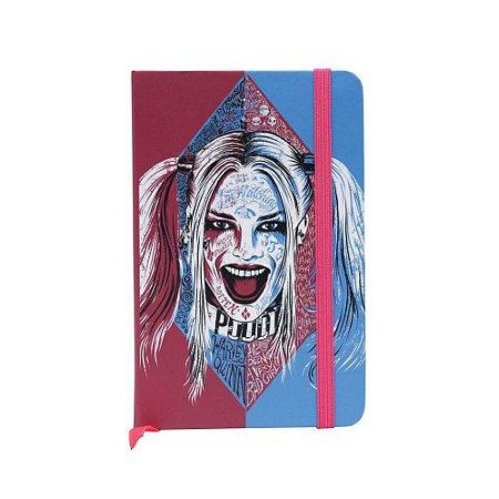 Caderneta Anotação Capa Dura Harley Quinn Face Colorido A6