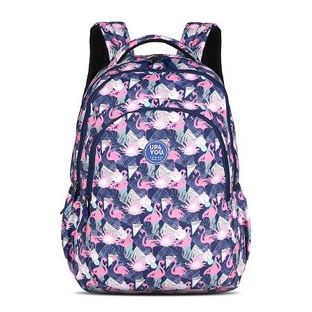 Mochila Feminina Notebook Up4you Flamingos Pink