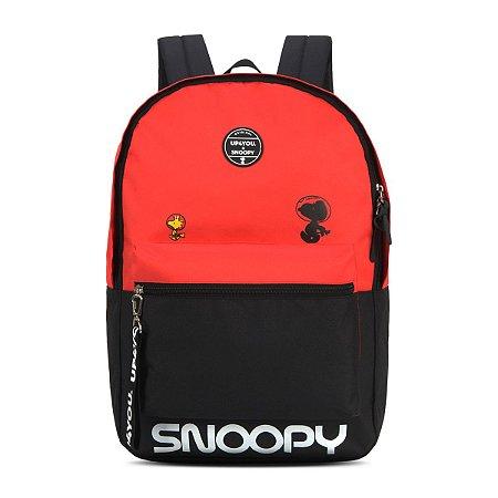 Mochila Escolar Juvenil  Snoopy Up4you Vermelha