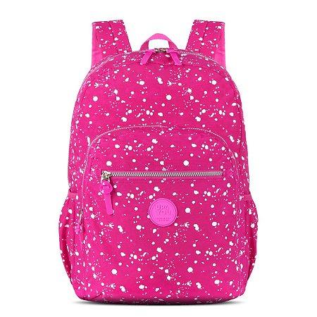 Mochila Feminina Notebook Up4you Texturas Pink