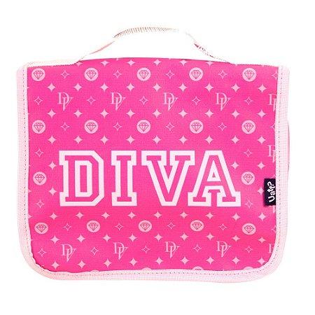 Necessaire Feminina Viagem Diva Pink