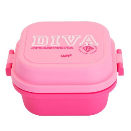 Mini Marmita Quadrada Diva Rosa 550ml