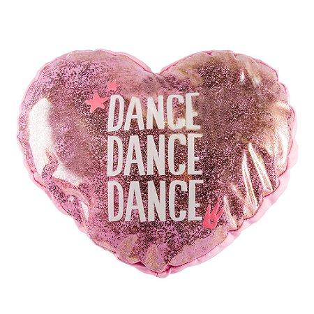 Almofada Shape Decorativa Coração Dance Rosa