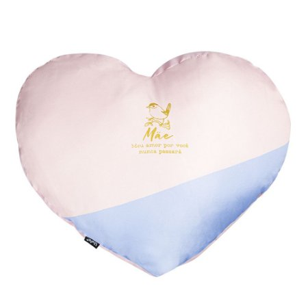 Almofada Shape Coração Verso & Cor Mãe