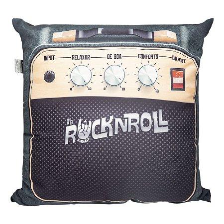 Almofada Decorativa Rock N Roll Preta 40x40cm