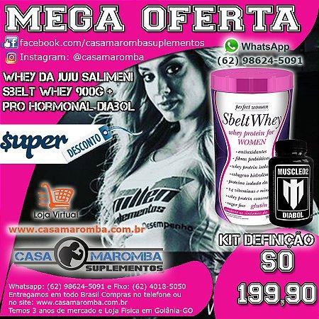 Sbelt Whey Feminino da Juju de 900g New Millen + Pro Hormonal Diabol 120 Capsulas MUSCLED2
