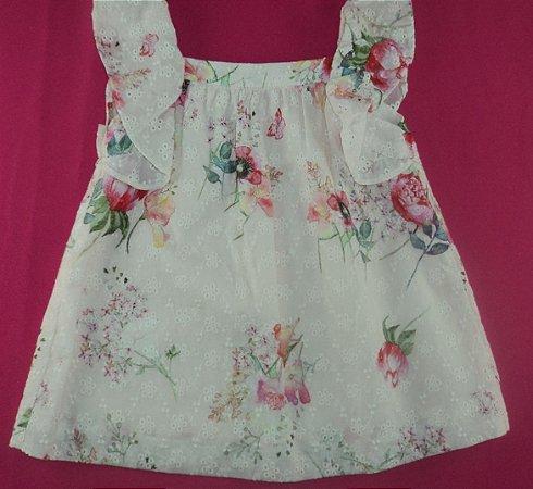 Vestido Infantil Florido Lese Zara Baby