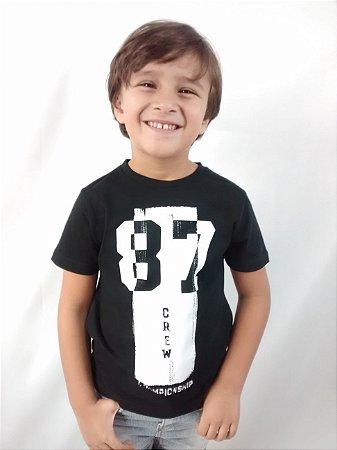 Camiseta Infantil Zara Boys Preta 87 Crew