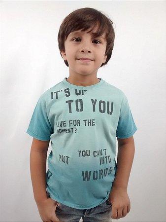 Camiseta Infantil Importada Zara Boys Azul Ston
