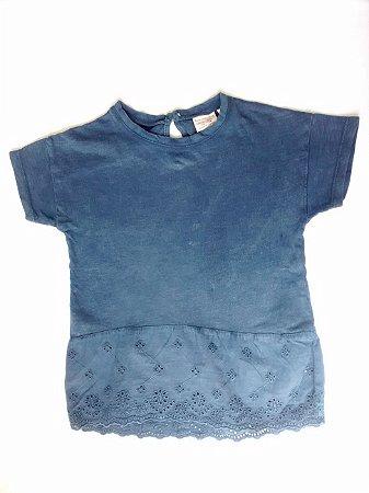 2d3790e290 Blusa Feminina Infantil Importada Zara Baby Girl Barra Bordado inglês
