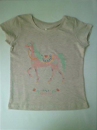 Blusa Infantil Feminina Cavalo Rosa Primark
