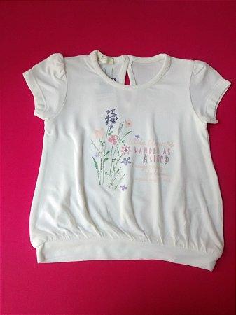 Blusinha Infantil Branca Benetton Bebê Pequenas Flores