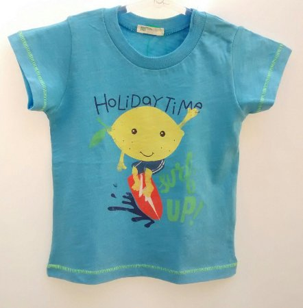 Camiseta Bebê Benetton Baby Boys Azul Surf Limão
