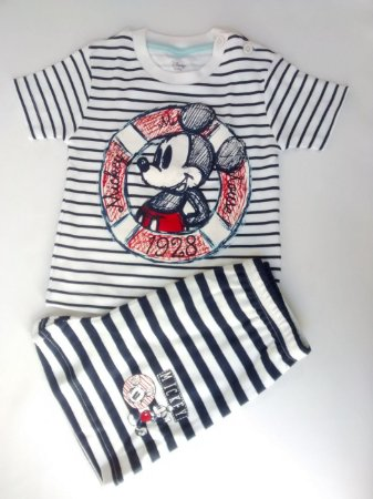 Pijama Infantil Manga Curta Mickey Disney Baby Primark