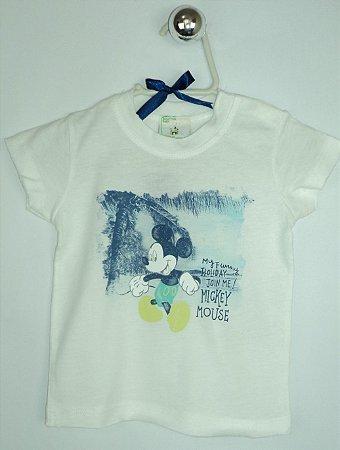 Camiseta Benetton Baby Disney Mickey Mouse Praia