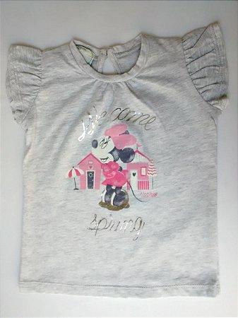 Blusa Bebê Importada Benetton Baby Disney Welcome Minnie