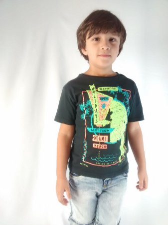 Camiseta Infantil Importada Zara Boys Summer Holidays Miami