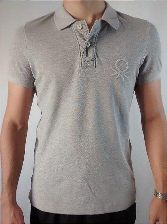 Camiseta Polo Masculina Importada Benetton Bordado Grande