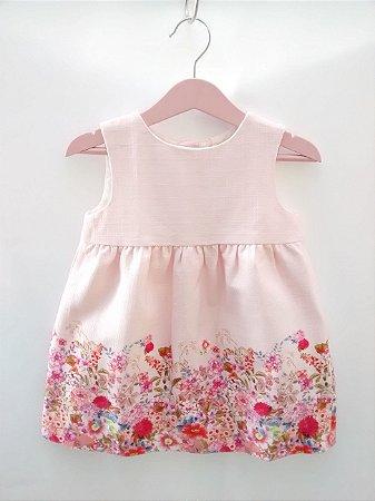 Vestido Infantil Rosa Zara Baby Girl Collection Importado Rosa Jardim