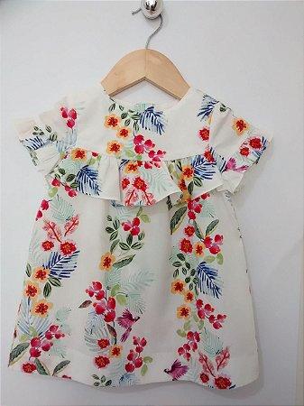 Vestido Infantil Florido Zara Baby Girl