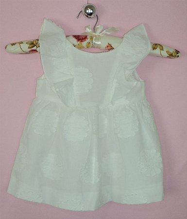 Vestido Infantil Branco Zara Baby