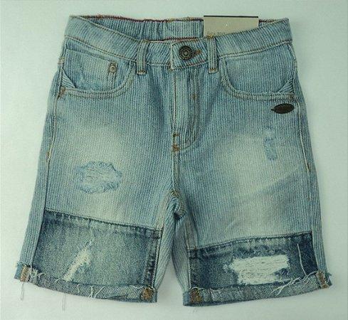 Bermuda Infantil Jeans Recorte Zara