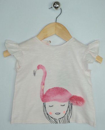 Blusa Infantil Flamingo Rosa Zara
