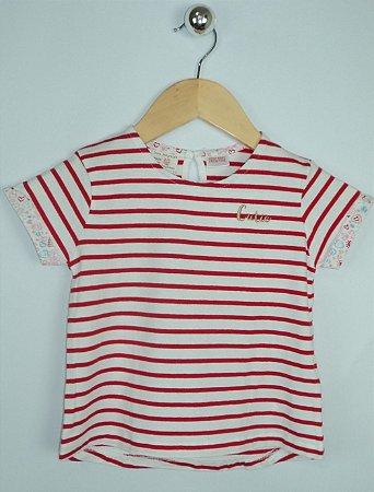 Blusa Infantil Listra Vermelha Zara Baby Girl