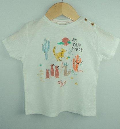 Camiseta Bebê Animais Deserto Zara