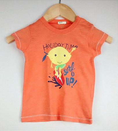 Camiseta Bebê Laranja Limão Benetton