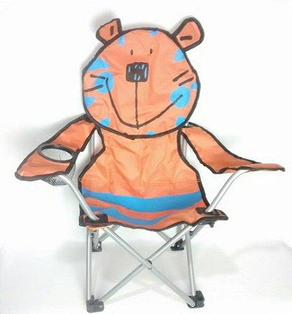 Cadeira Infantil Dobrável Tigre Camping Parque Pesca