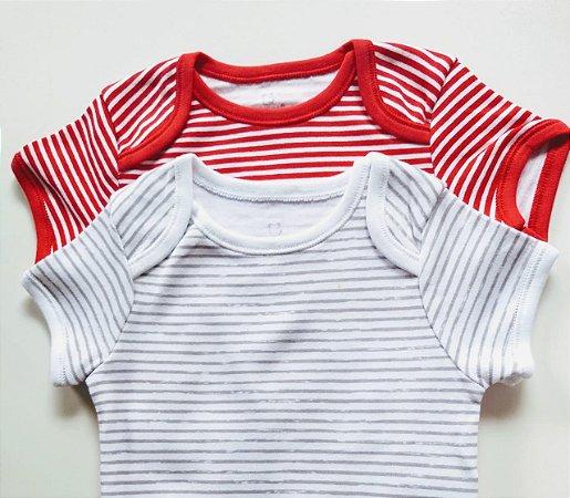 Kit Body Bebê com 2 Peças Listrado