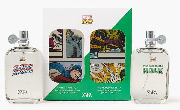 Perfume Infantil Capitão América e Hulk Kit Zara
