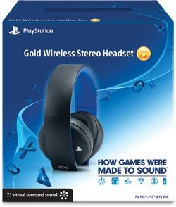 Headset Wireless Stereo Gold PS4