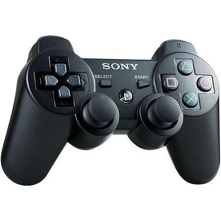 Controle Dualshock 3 Preto Sem Fio - PS3