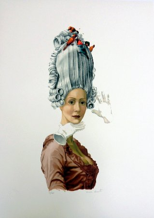 GRAVURA MARIA ANTONIETA RAINHA DOS PÁSSAROS