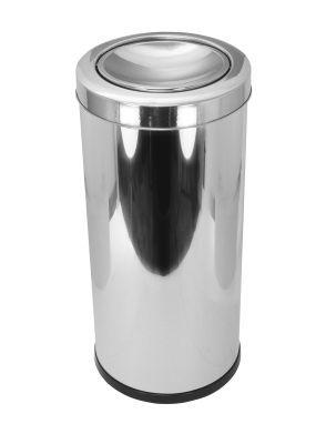Cesto para lixo em aço inox com tampa meia esfera 22 Litros
