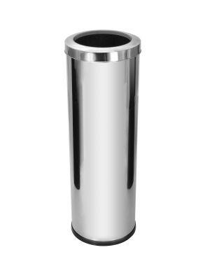 Cesto para lixo em aço inox com tampa Aro 30 Litros - Cod. C33